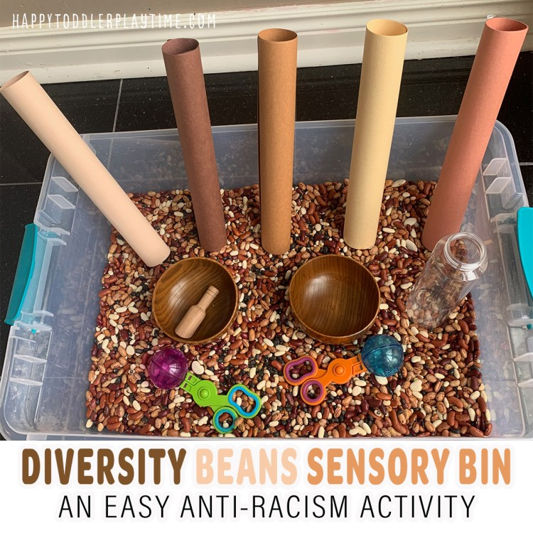 Diversity Beans Anti-Racism Sensory Bin