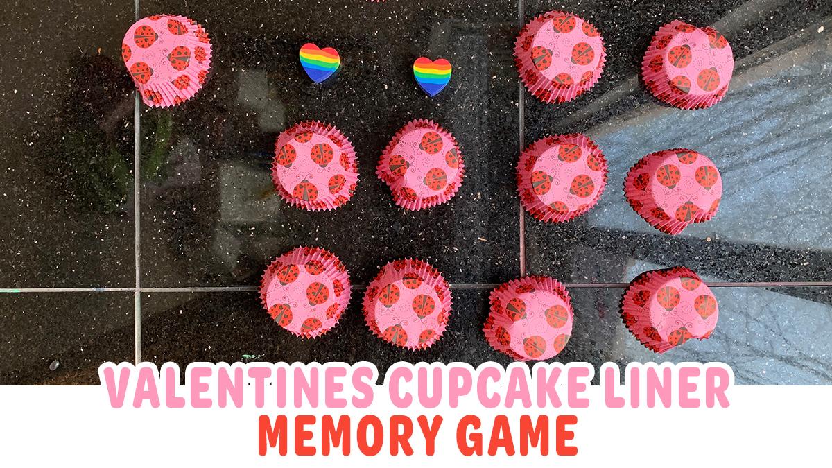 Valentines Cupcake Liner Memory Game