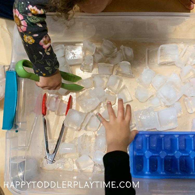 Super Easy Winter Ice Sensory Bin