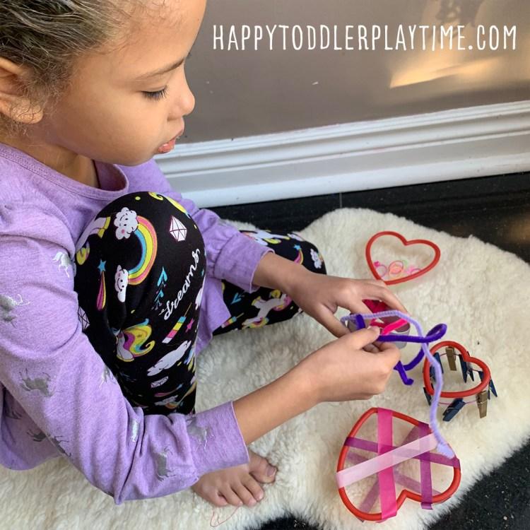 Heart Cookie Cutter Fine Motor Valentine's Activity
