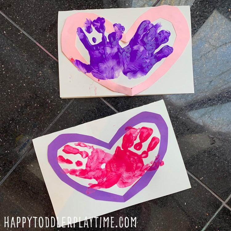 Handprint Heart Craft for Valentine's Day
