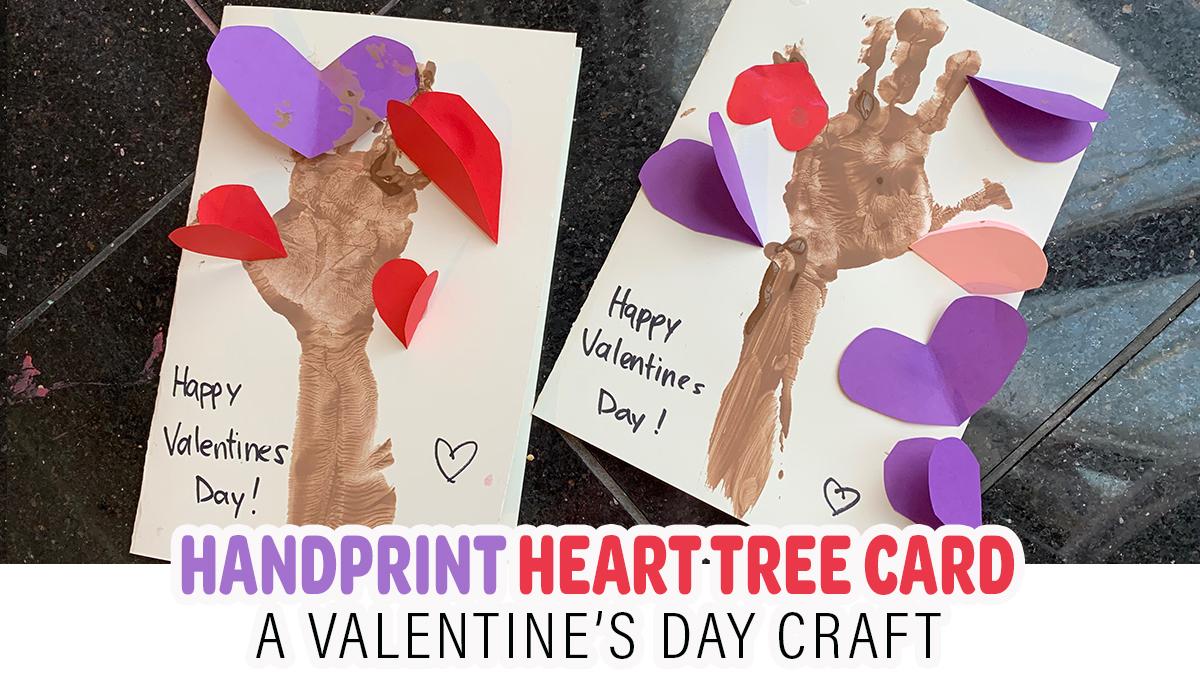 Handprint Heart Tree Craft for Valentine's Day