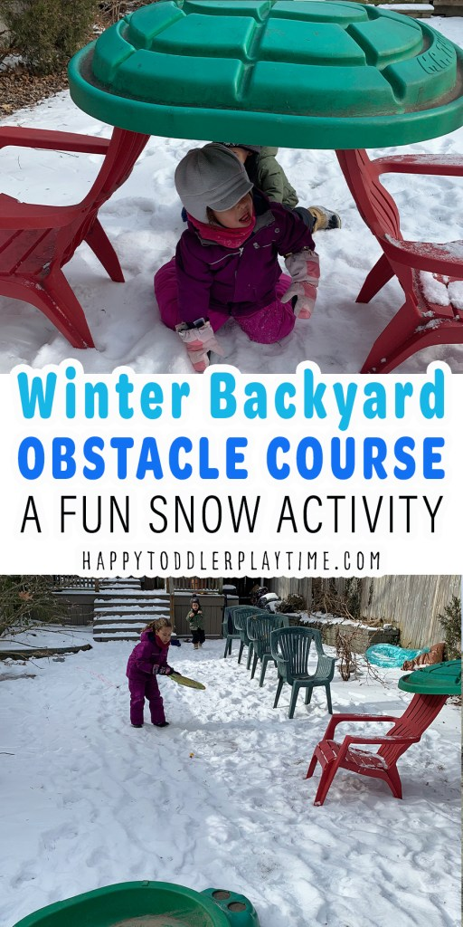The Best Winter Backyard Obstacle Course for Kids