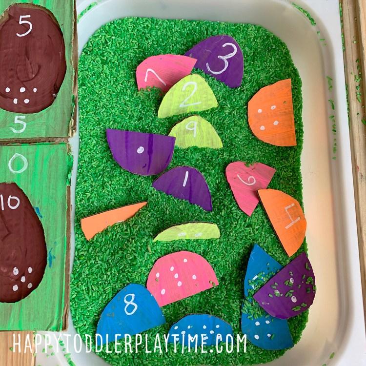 Easter Egg Number Match Sensory Bin