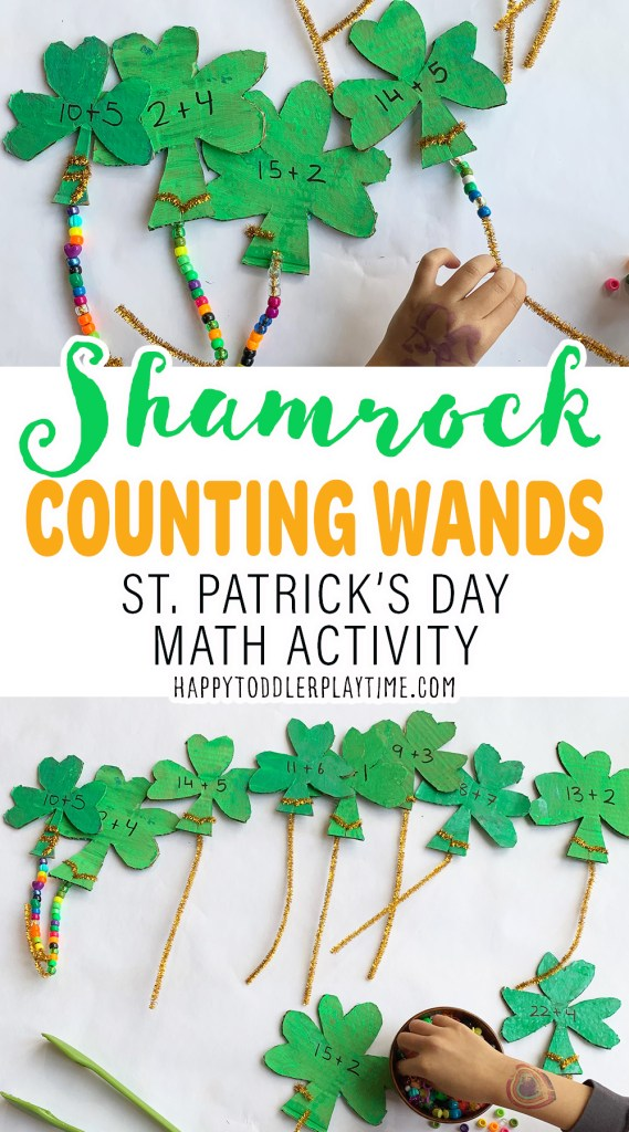Shamrock Counting Wands: St. Patrick's Day Math