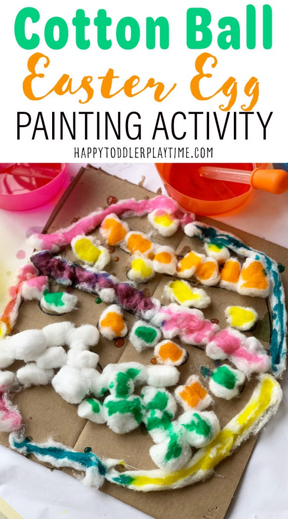 Cotton Ball Easter Egg Painting Activity