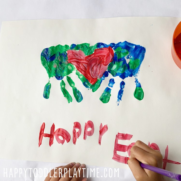 Earth Day Handprint Craft for Kids