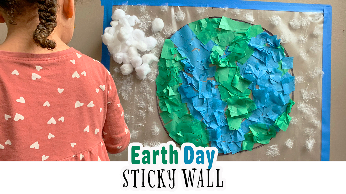 Fun and Easy Earth Day Sticky Wall