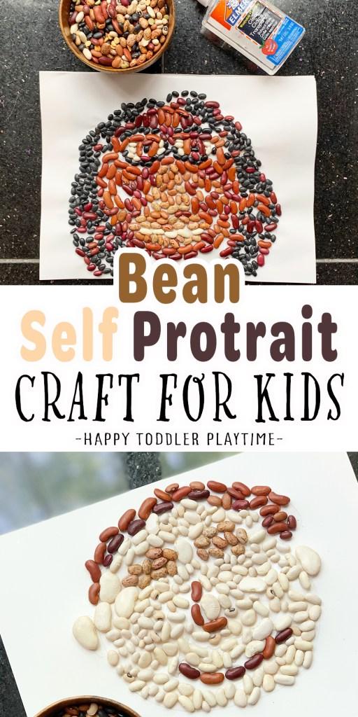 Bean Self Portrait Craft for Kids
