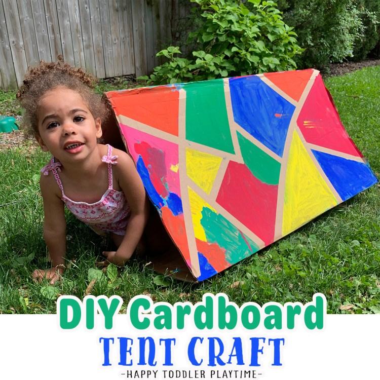 DIY Cardboard Tent Craft
