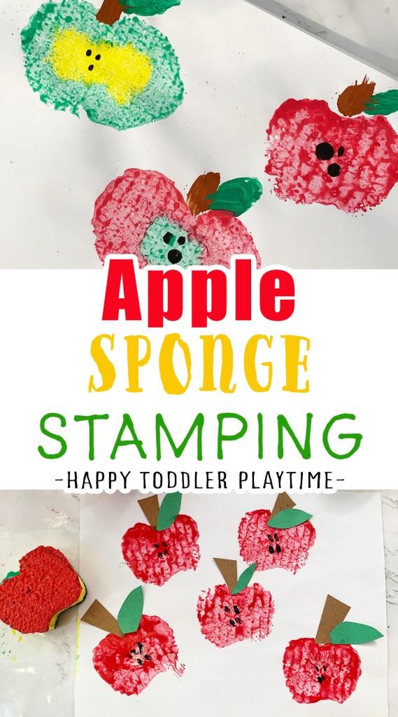 Apple Sponge Stamping Craft
