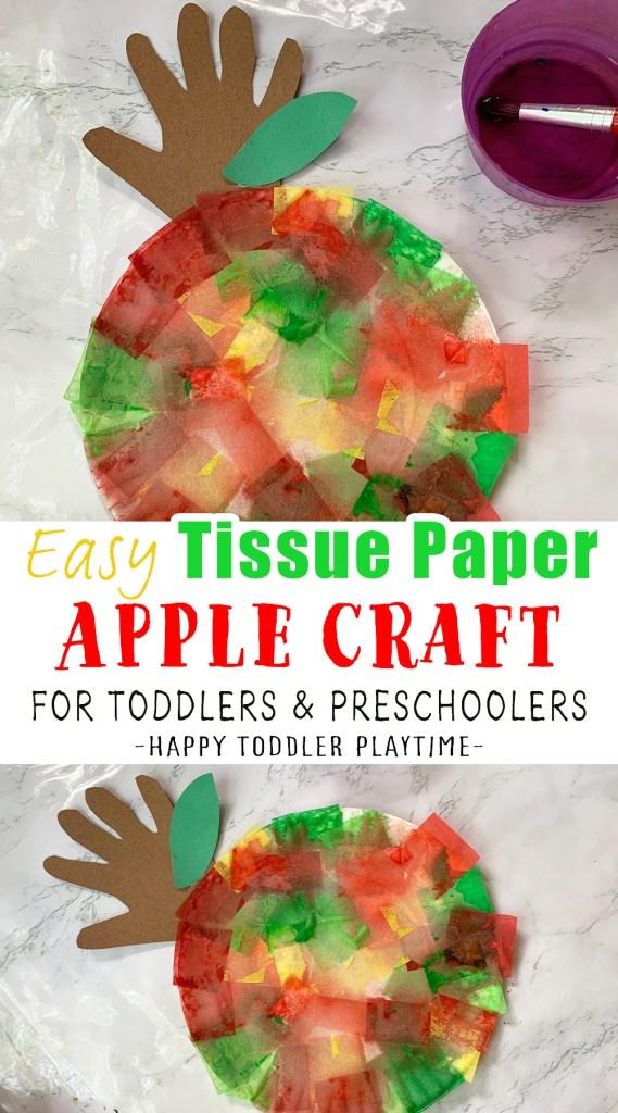 tissue paper apple craft