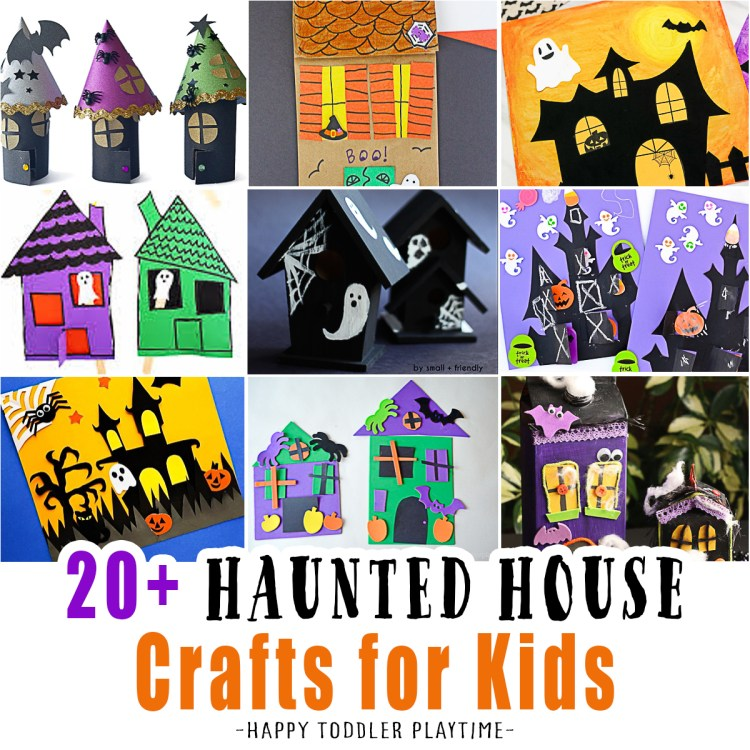 20+ Haunted House Crafts for Kids