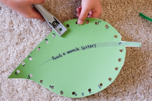 The very hungry caterpillar letter search motor skill activity