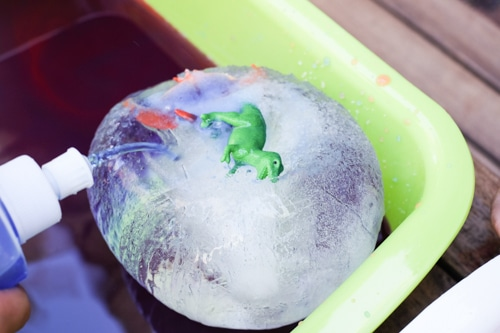 Rescue the frozen dinosaurs activity for kids