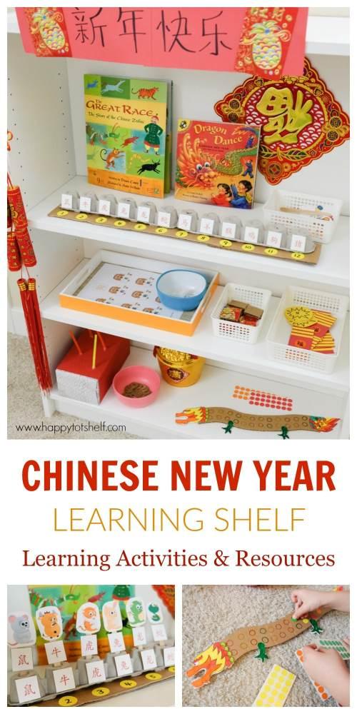 chinese new year theme learning shelf activity
