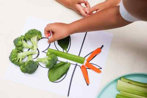 Learning parts of a plant using vegetables