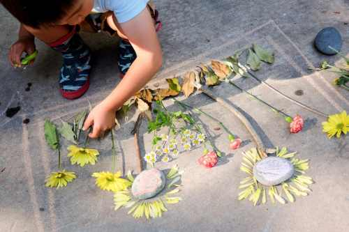 Make a nature collage invitation to create