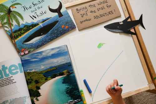 The snail and the whale art activity