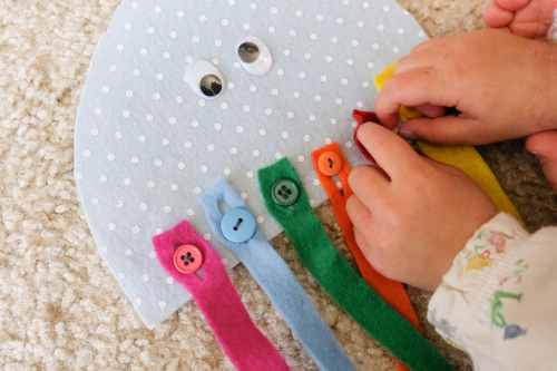 Button jellyfish color matching and button DIY learning toy