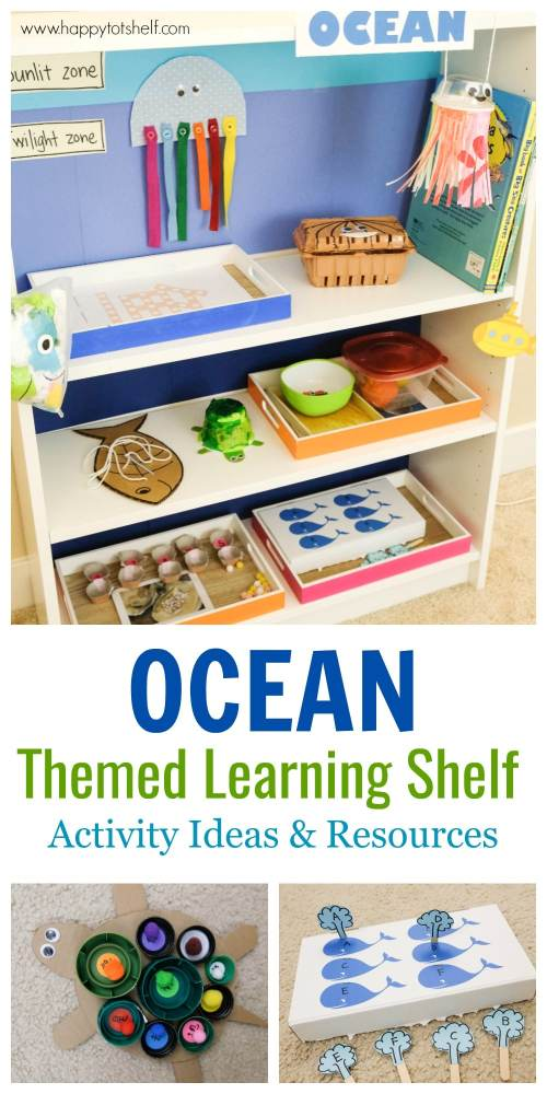 Ocean theme learning activities and ocean theme shelf