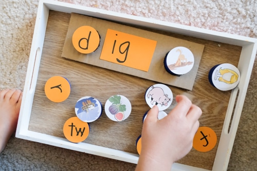 -ig word family learning toy