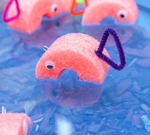 Pool Noodle Fishing Game