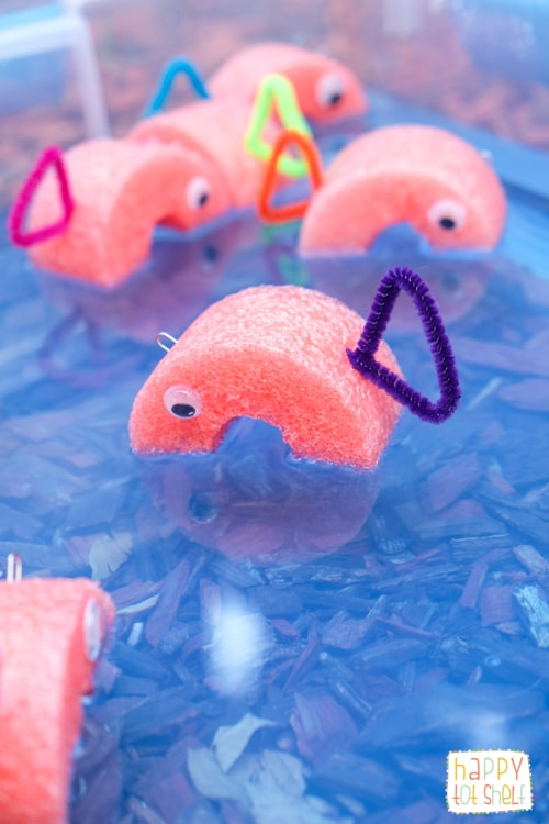 DIY pool noodle fishing game