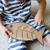 Fish Sewing Board - Sewing Learning Activity for Kids