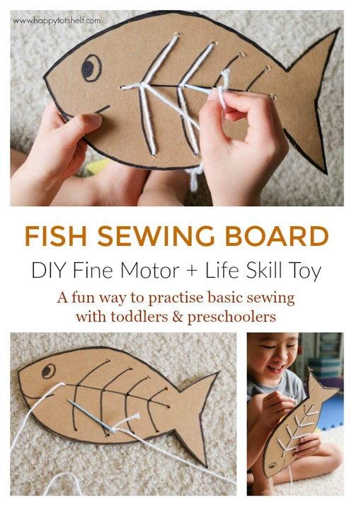 Fish sewing board