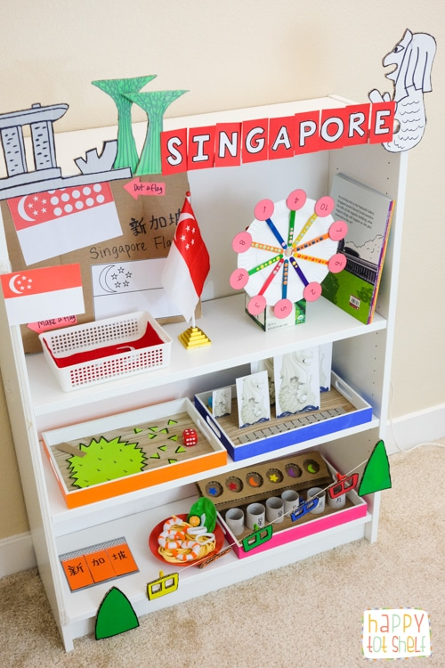 Singapore Theme Learning Activities And Shelf Happy Tot Shelf