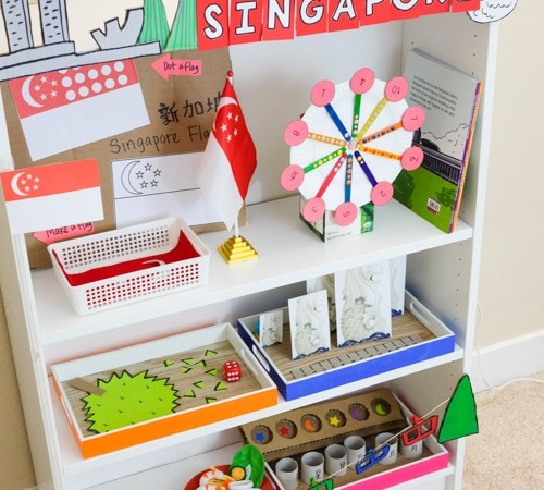 Singapore Theme Learning Activities and Shelf