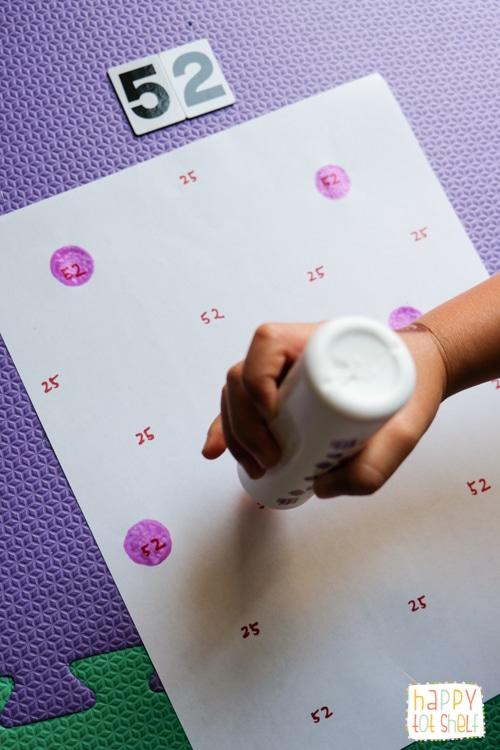 Number activities for preschooler