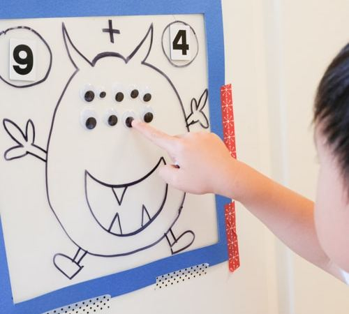 Cute Monster Eyes Counting Activity