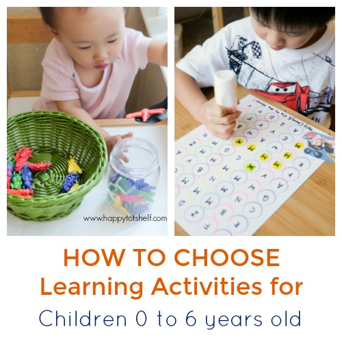 A Quick Guide To Choosing Home Learning Activities Happy Tot Shelf