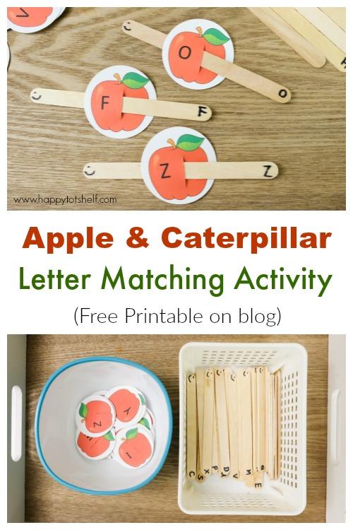 Apple Caterpillar Letter Matching