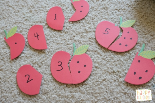 Apple Counting Puzzle for toddlers