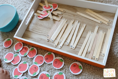 apple letter matching activity for preschoolers