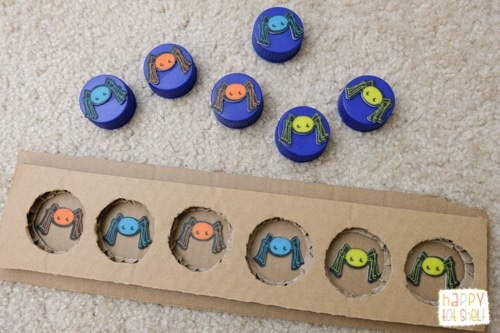 DIY color matching learning toy