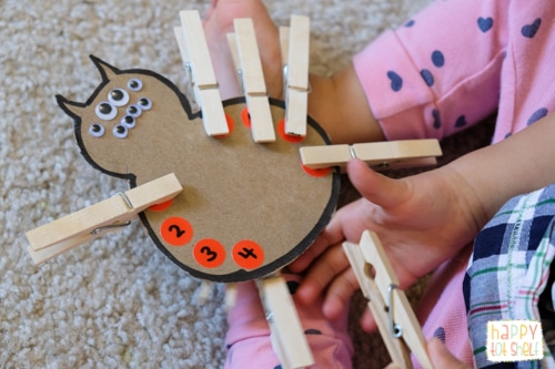 Parts of a spider learning activity for kids