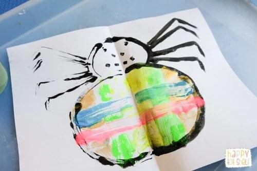 Spider Art Activity for kids