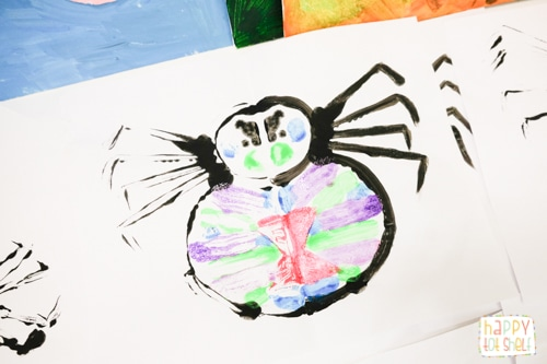 Spider Painting for kids