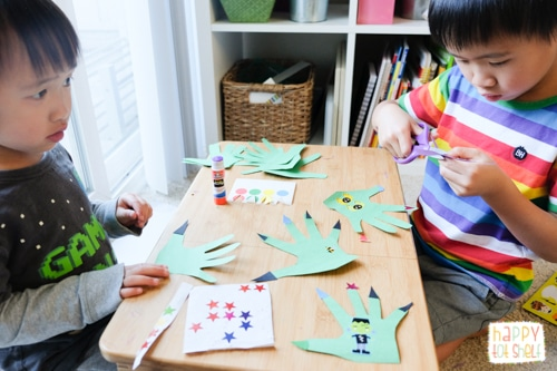 Monster craft activity for kids