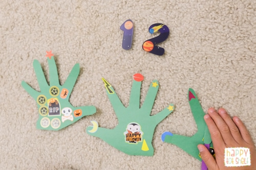 Monster theme counting activity