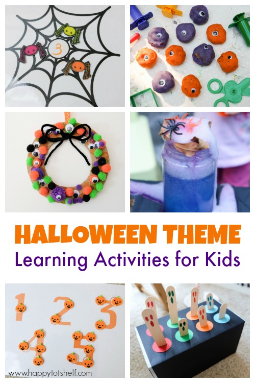 halloween theme learning activities for kids