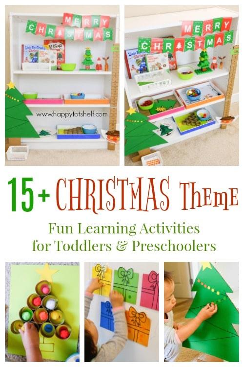 Christmas Learning Activities And Shelf Happy Tot Shelf