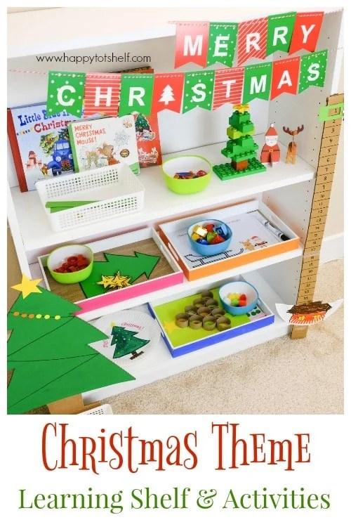 Christmas Theme Learning Shelf