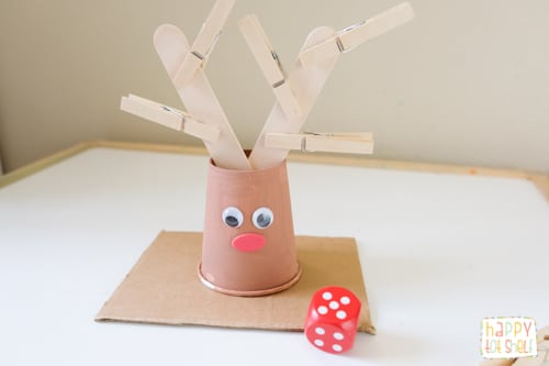 Paper Cup Reindeer Counting Toy
