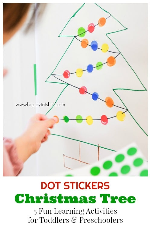 Dot sticker Christmas Tree