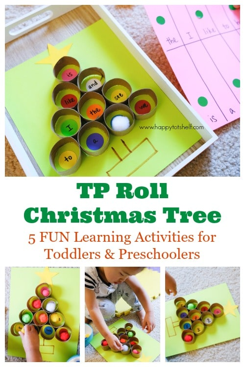 TP roll Christmas tree activity